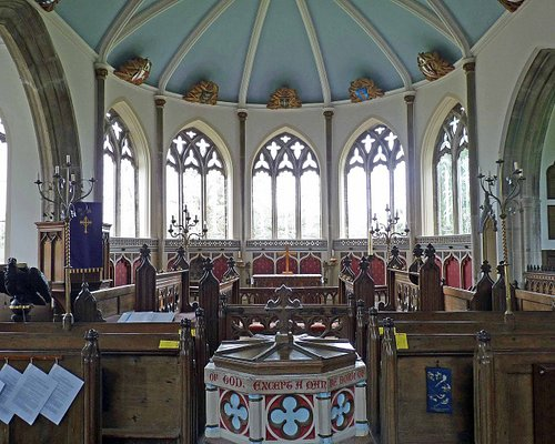 Apse Windows at St Nicholas' Church Engraved by Sir Laurence Whistler