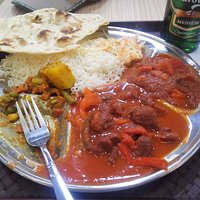 Lamb Thali witha side order of chicken
