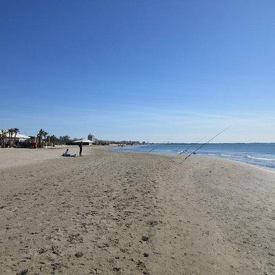 Plage Couchant - gut geeignet für Strandspaziergänge - das Wasser war im September zu kalt.