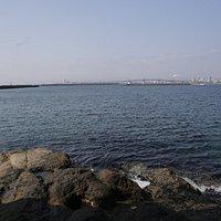 松下公園からの小名浜港