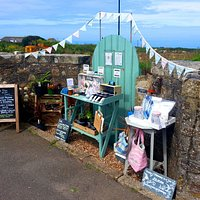 Beautiful and well stocked garden gate stall at 'The Gull at the Gate'