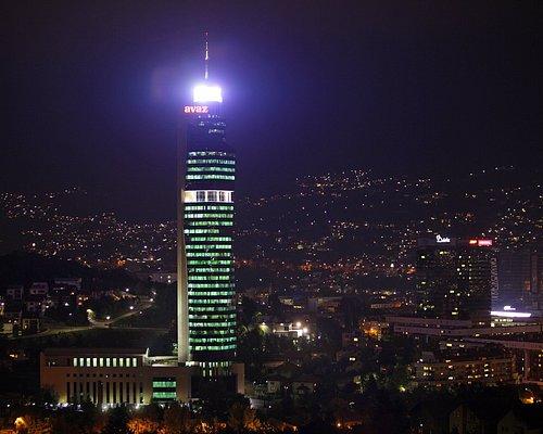 Avaz Twist Tower at night