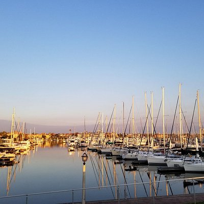 The marina on day 1 of sailing lessons.