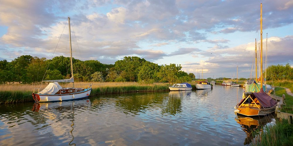 Boats at Horsey Mere © Christopher Hill