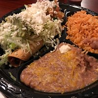 Taquitos, Rice & Beans