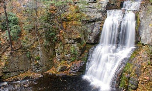 Fall colors at Bushkill Falls
