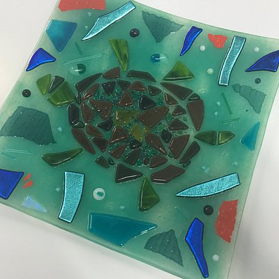 Beginners Fusing Day - students work