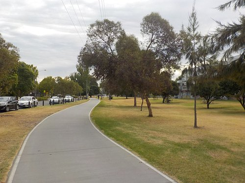 Looking West from Lygon Street