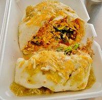 Chicken Smothered Burrito - inside