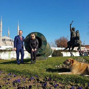 Edirne Fatih Sultan Mehmet Heykeli