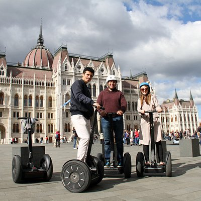 Segway fun at the Budapest Parliament
