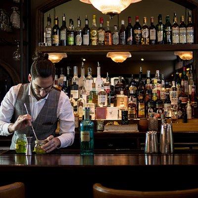 bartender on bar