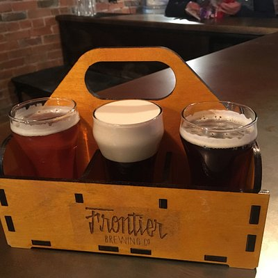 Great selection. What a novel idea on pour your own. The frontier copper ale was good. Really li