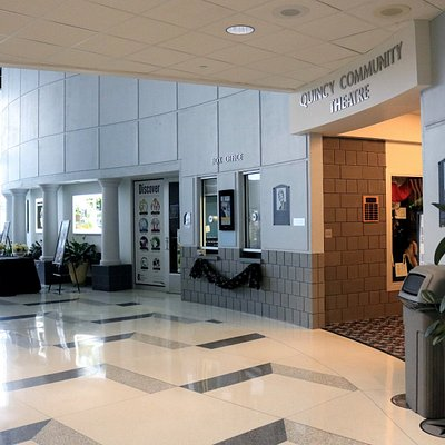 The lobby of Quincy Community Theatre.