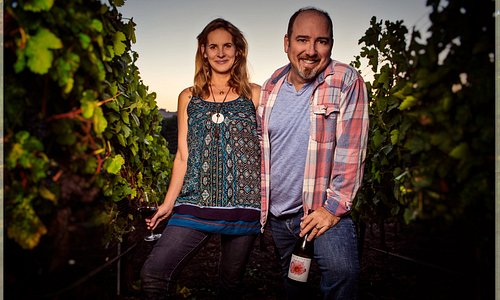Anna and David farm their organic vineyard 5 blocks from the tasting room in downtown Los Olivos