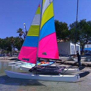 Vermietung oder Kurse, Windsurfen, Segel Jollen, Katamarane (Hobie 16) Kayak und SUP,s