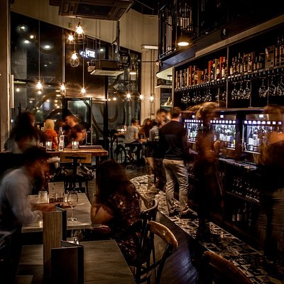 Over 50 wines by the glass, craft beers, artisan spirits and food to match.