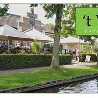 Restaurant 't Vonder has a great terrace overlooking the village canal!