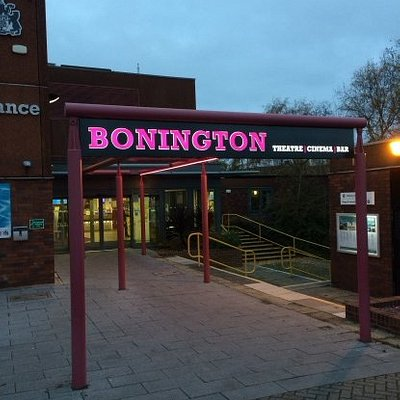Entrance to Arnold Leisure Centre and the Bonington