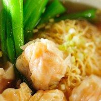 Wonton Soup with Egg Noodles