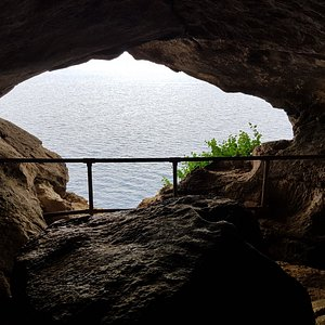 View from inside the cave