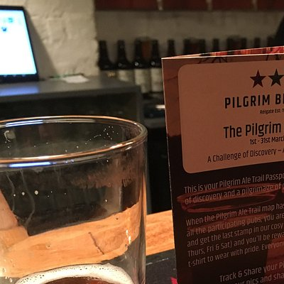 Drinks in the Pilgrim Brewery Tap Room