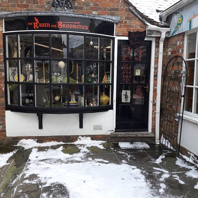 The shop in snow