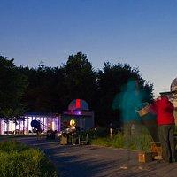 Sterrenwacht Limburg tijdens een publieksavond