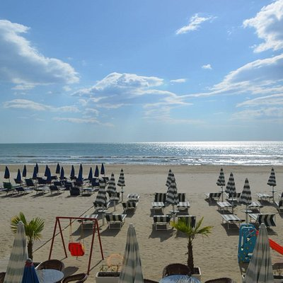 view from durres beach