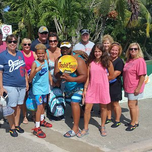 Dunn's River Falls. The gang is all pump up and ready! Thank you guys.