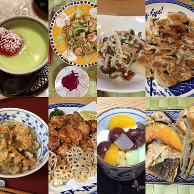 Some examples of the dishes guests can request.