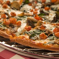 Spinach, mushroom and tomato - a classic combination