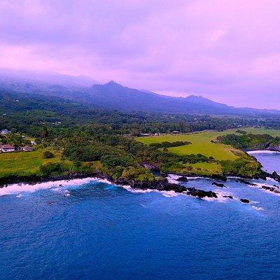 The Hana coast line.
