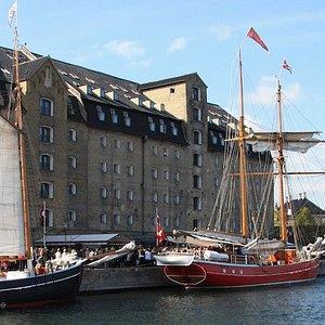 Historic Schooners in front of the Copenhagen Admiral Hotel