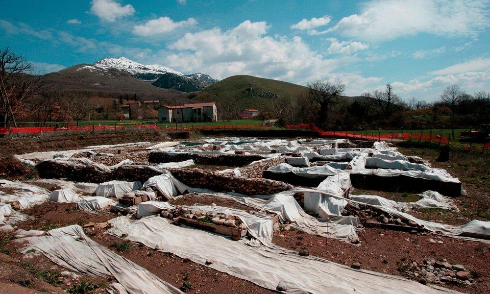 Überblick über die römische Villa von Marsicovetere.