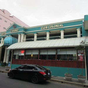 The restaurant is the front part of the building