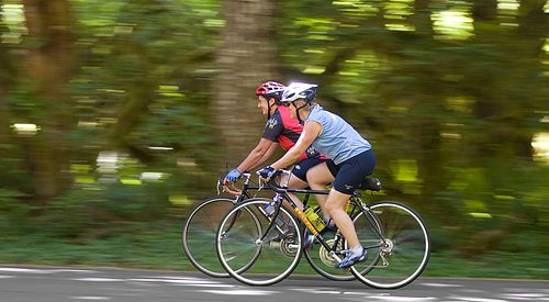 Cyclists at Wildwood Recreation Site