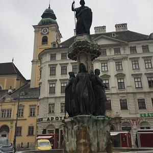 Austriabrunnen at Freyung in Vienna