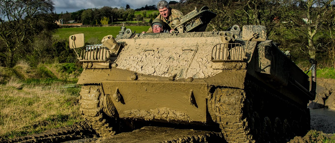 Tank driving experience at the museum