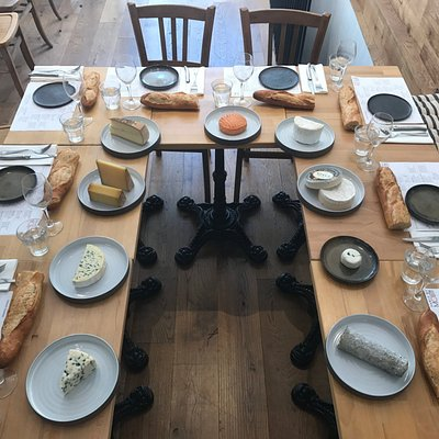 The before shot at our Cheese & Wine Tasting Workshop. After 10 cheeses & 5 wines, it gets messy