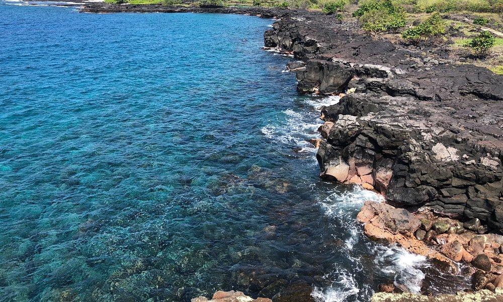 View from the ramp at Alahaka Bay