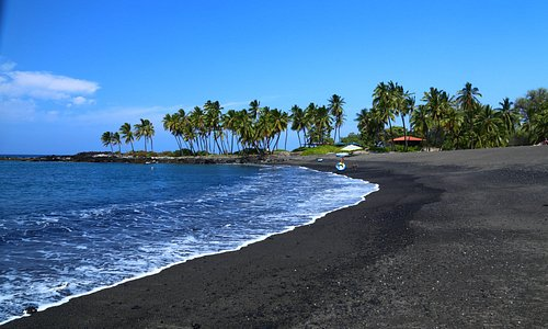 View of the beach.