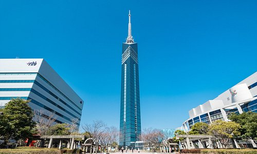 福岡タワー全景昼
