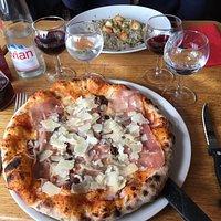 pizza et rizotto