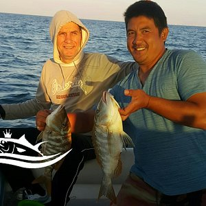 Captain Rashid with one of guest and catch