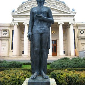 Apt location for his statue