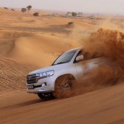 Desert Fun Tourism's Amazing Dune Bashing moment captured. We provide Best Thrilling Dune Bashin