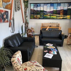 Seating area & Local Art