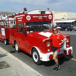 Questo è uno dei nostri trenini usato per il divertentissimo tour del Borgo Antico di Bari!