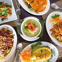 Selection of Yummy Thai Orchid Foods